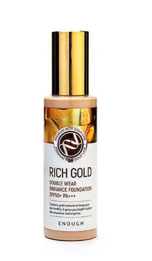 Тональная основа с золотом Enough Rich Gold Double Wear Radiance Foundation SPF50+ PA+++