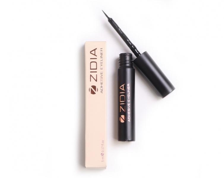 Zidia Adhesive Eyeliner - клей-подводка для накладных и пучковых ресниц, 5 мл, черная