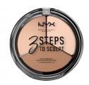 Тройная палитра для контурирования NYX 3 Steps To Sculpting Palette (FAIR)